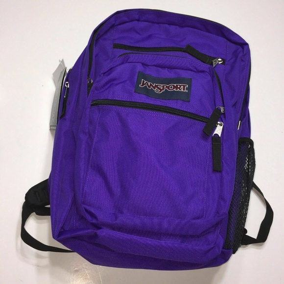 new concept 8e9eb 212d9 Jansport Backpack Student Purple 5 openings